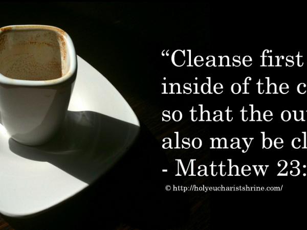 Faire la vaisselle ou faire miséricorde ? (Mt 23, 23-26)