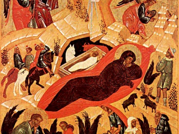 Lecture de l'Icône de la Nativité
