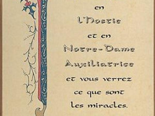 Prière à Marie Auxiliatrice