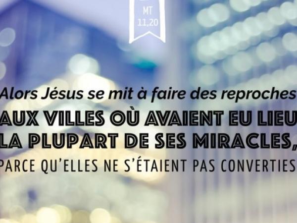 Remontrances divines (Mt 11, 20-24)