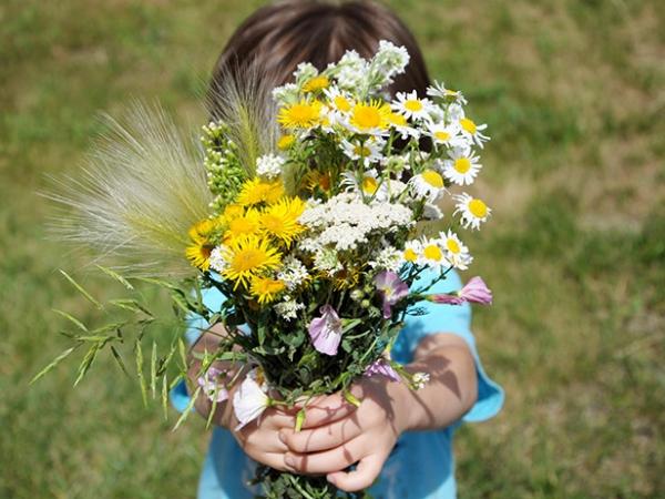 Un bouquet de fleurs de la part de maman